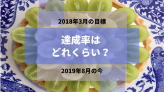 シャインマスカットのタルト 2018年3月の目標 2019年8月の今