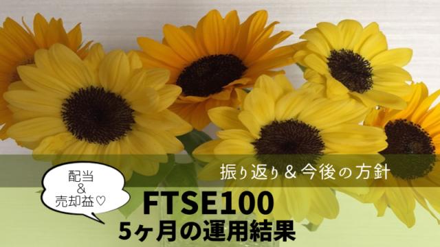 ひまわり証券 FTSE100 5ヶ月の運用結果