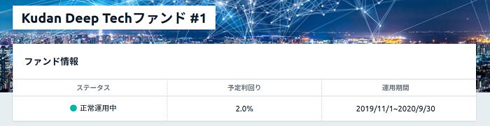 Kudan Deep Techファンド♯1