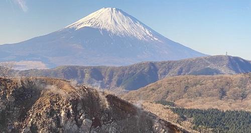 箱根ケーブルカーからの富士山