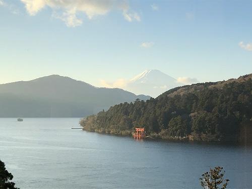 成川美術館からの富士山