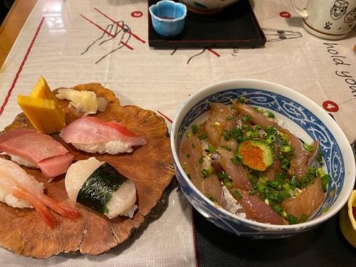 鮨みやふじ アジ丼と握り