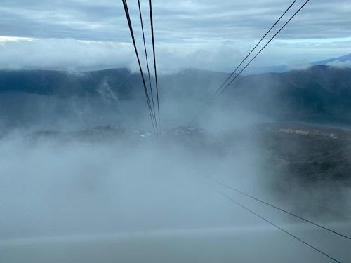 駒ヶ岳ロープウェイ ホワイトアウト