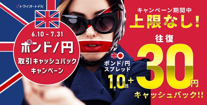 ポンド円キャッシュバックキャンペーン