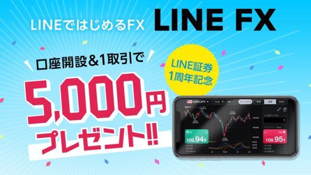 LINE FX口座開設キャンペーン